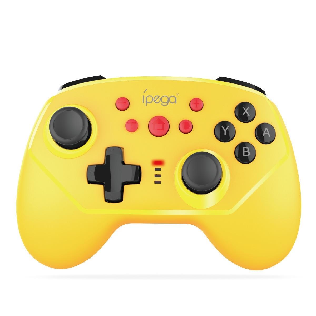 iPega PG-9162Y Mini bluetooth sexaxig vibrationsspel för Nintendo Switch Konsol Trådlös trådbunden dubbelanslutning Spel